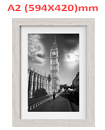 A2 23.4 x 16.5 Inches Wall Mounted Picture Photo Poster Frame MDF Board Off White