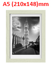 A5 8.3 x 5.82 Inches Wall Mounted Picture Photo Poster Frame MDF Board Oak
