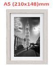 A5 8.3 x 5.82 Inches Wall Mounted Picture Photo Poster Frame MDF Board Off White