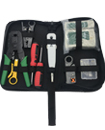Networking RJ45 Connectors Crimper Punch Down with Stripper Cable Tester Tool Kit Case