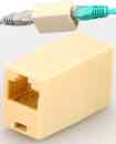 RJ45 CAT5 CAT6 Ethernet Coupler Connector