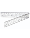 FOLDING RULER 30CM HELIX TRANSPARENT SHATTERPROOF SCHOOL PENCIL CASE CM MM RULER