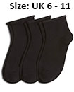 Trainer socks black  man  UK 6 - 11