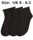Trainer socks black womans UK 4 - 6.5