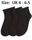 Trainer socks black womans UK 4 - 6.5