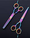 Professional 5.5 Inches Titanium Barber Hair Cutting Thinning Scissors with Pouch