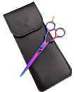 Professional 5.5 Inches Titanium Barber Hair Cutting Scissors with Pouch