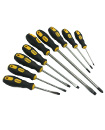 Locaso 9pcs Magnetic Screwdriver Tool Set with Soft Grip Handles
