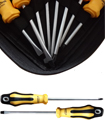 High Quality 8pcs Screwdriver Set (Yellow & Black)