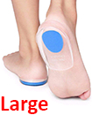 Fast Foot Pain Relief Plantar Fasciitis Gel Heel Support Cushion Insoles Pad Cup BLUE LARGE