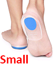 Fast Foot Pain Relief Plantar Fasciitis Gel Heel Support Cushion Insoles Pad Cup BLUE SMALL