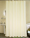 PLAIN SHOWER BATHROOM CURTAIN 12 HOOK RING SET
