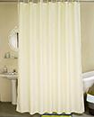 Plain Shower Bathroom Curtain Liner with 12 Hook Ring Set