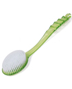Bath Brush Soft Bristles Long Handle Reach Back Body Shower Bristle Scrubber Spa Bathroom