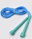 Skipping Rope Adult 9 foot Long Approx Nylon Plastic Handles Gym Fitness Trainin blue  color