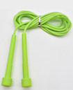 Skipping Rope Adult 9 foot Long Approx Nylon Plastic Handles Gym Fitness Trainin green color