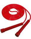 Skipping Rope Adult 9 foot Long Approx Nylon Plastic Handles Gym Fitness Trainin Red color