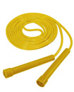 Skipping Rope Adult 9 foot Long Approx Nylon Plastic Handles Gym Fitness Trainin yellow color