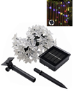 Light Solar Power 50 LED Flower Sun Power In/Outdoor Fence Wall Fairy Lights Garden Lighting