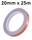 20mm x 25m Copper Slug Tape: Adhesive Copper Slug Snail Barrier Tape