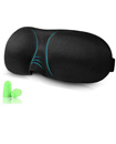 3D Shaped Eye Mask with Ear Plugs Sponge Cover Blindfold Travel Sleep & Pouch
