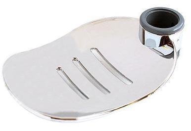 Modern Shower Soap Dish Holder Chrome | Large Leaf Design | Fits 25mm Riser Rail
