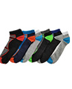 6 Pairs Mens Trainer Liner Ankle Socks Funky Designs Adults Sports  (OPTION 1 )