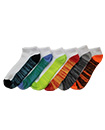 6 Pairs Mens Trainer Liner Ankle Socks Funky Designs Adults Sports  (OPTION 11 )