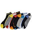 6 Pairs Mens Trainer Liner Ankle Socks Funky Designs Adults Sports  (OPTION 12 )