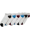 6 Pairs Mens Trainer Liner Ankle Socks Funky Designs Adults Sports  (OPTION 3 )