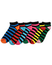 6 Pairs Mens Trainer Liner Ankle Socks Funky Designs Adults Sports  (OPTION 7 )