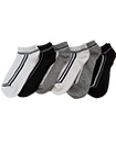 6 Pairs Mens Trainer Liner Ankle Socks Funky Designs Adults Sports  (OPTION 8 )