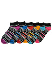 6 Pairs Mens Trainer Liner Ankle Socks Funky Designs Adults Sports  (OPTION 9)