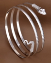 Coiled Snake Spiral Upper Arm Bangle Bracelet Ankl