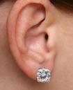 Diamond Stud Earrings White Gold Plated Men's Boy'