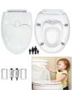 Luxury Child Family Friendly Soft Close Potty Training Toilet Seat with Fitting Hinges