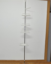 4 Tier Adjustable Telescopic Corner Shower Bathroo