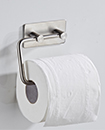 Stainless Steel Wall Mounted Self Adhesive Toilet Roll Holder Towel Hanger, for Kitchen Bathrooms