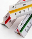 Professional Quality 30cm Triangular Scale Ruler Ruling Metric System 6 Scales