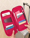 High Quality Travel Wallet with Full Closure Zip Organizer RFID Passport Ticket Holder