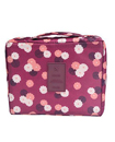 Multi-function Travel Storage Bag Water-proof Oxford fabric Floral Print Cosmetic Bag - Wine Red