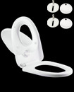 Toilet Seat Soft Close Family Child Friendly 3in1 TOP&BOTTOM Hinges White
