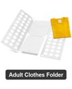 Adult Magic Clothes Folder T Shirts Jumpers Organizer Fold Laundry Suitcase Easy
