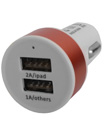 High Quality Dual 2 Port USB 2.0 Car charger 2A/1A