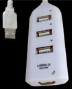 High Speed 4 Port USB 2.0 Multi Hub Expansion Spli