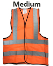 Medium Orange High Viz Visibility Reflective Strips Vest EN471 Waistcoat Safety
