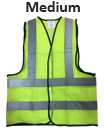 Medium Yellow High Viz Visibility Reflective Strips Vest EN471 Waistcoat Safety