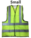 Small Yellow High Viz Visibility Reflective Strips Vest EN471 Waistcoat Safety