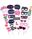 30 Pcs Colourful DIY Party Props Photo Booth on Sticks DIY Funny for Wedding, Birthday, Christmas, Graduation