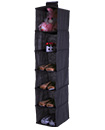 6 Tier Hanging Wardrobe Storage Shelf Foldable Collapsible Shoe Garment Clothes Organizer